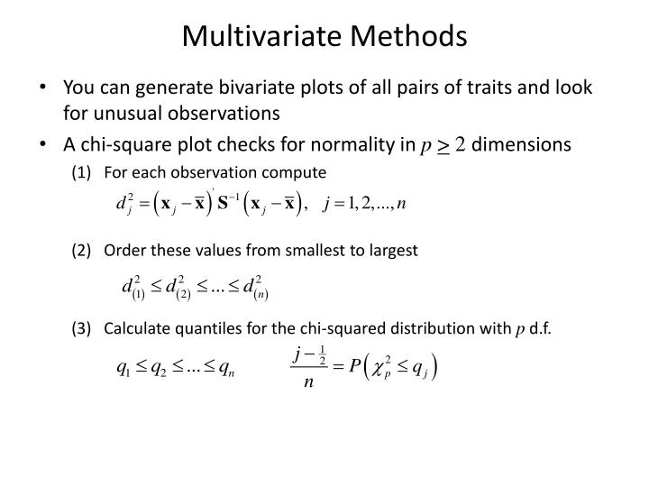 Multivariate Methods