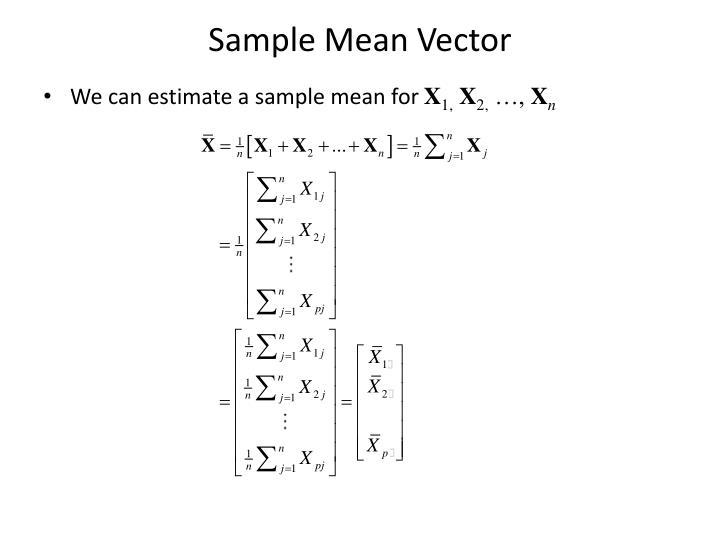 Sample Mean Vector