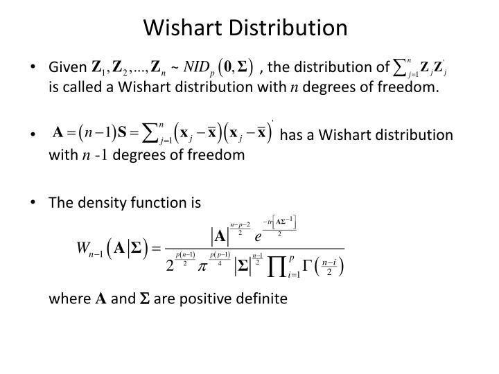 Wishart Distribution