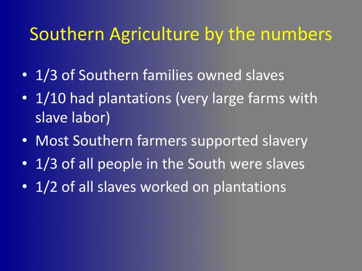 Southern Agriculture by the numbers