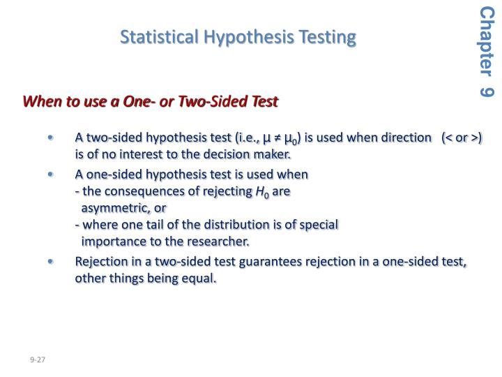 Statistical Hypothesis Testing