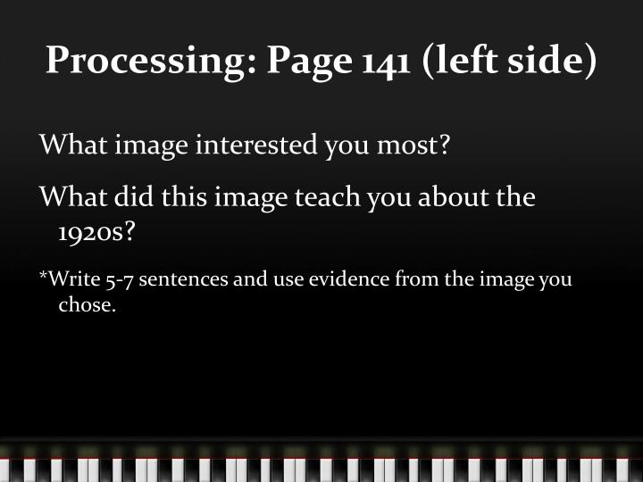 Processing: Page 141 (left side)