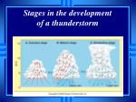 stages in the development of a thunderstorm