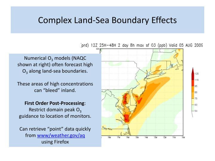 Complex Land-Sea Boundary Effects