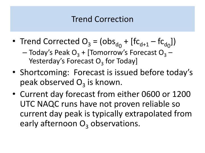 Trend Correction