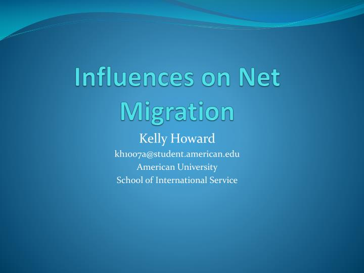 influences on net migration