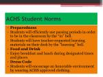achs student norms
