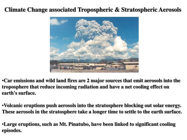 Climate Change associated Tropospheric & Stratospheric Aerosols