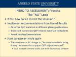 intro to assessment process the no loop