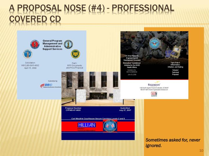 A Proposal Nose (#4) - Professional Covered CD