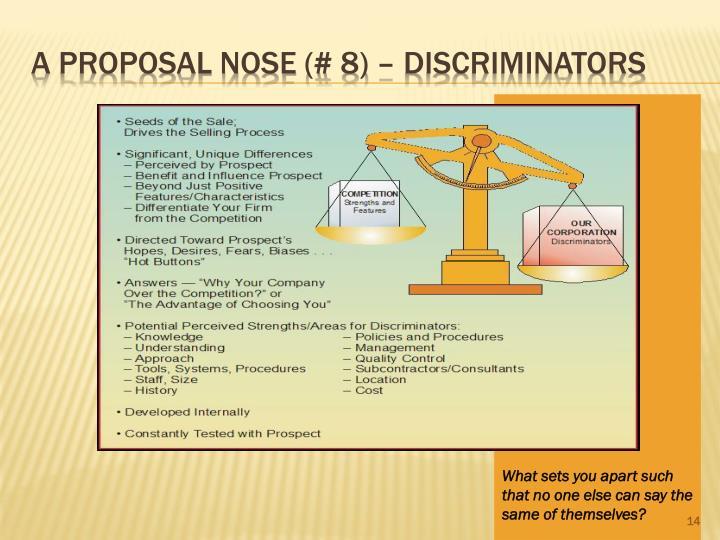 A Proposal Nose (# 8) – Discriminators