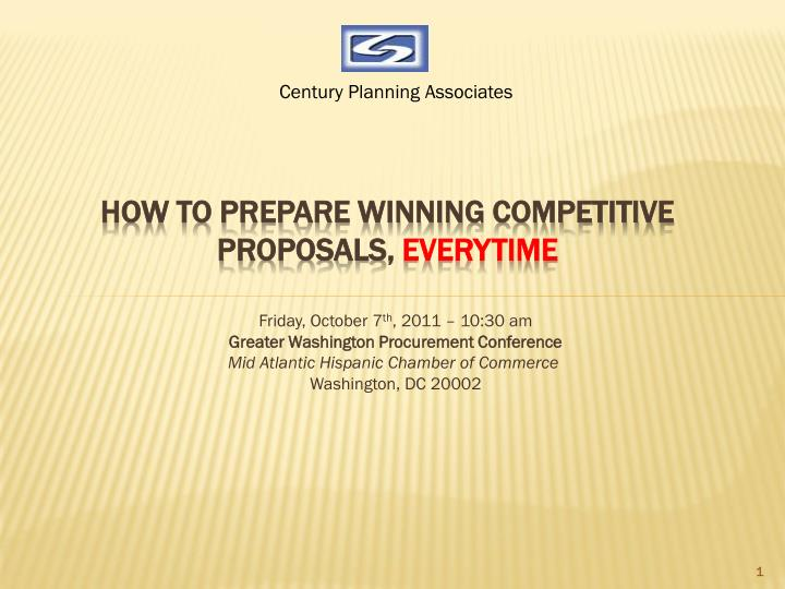 how to prepare winning competitive proposals everytime