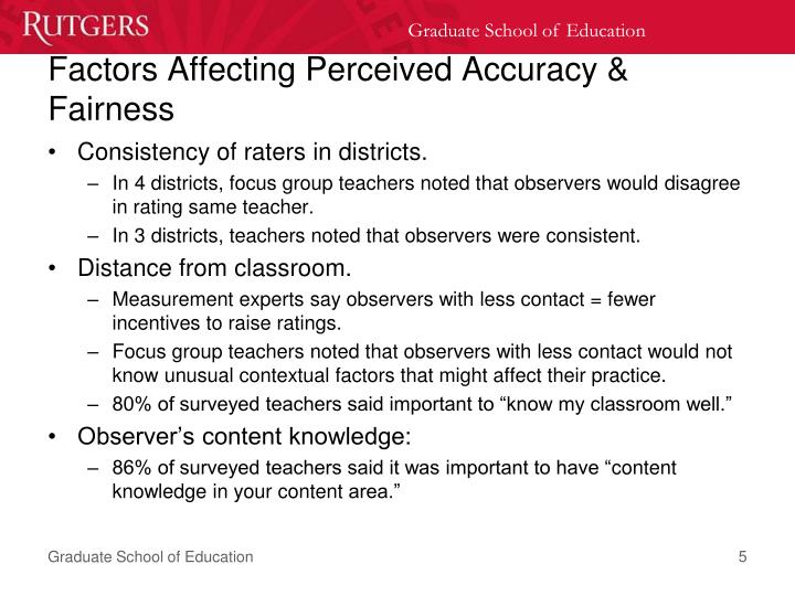 Factors Affecting Perceived Accuracy & Fairness