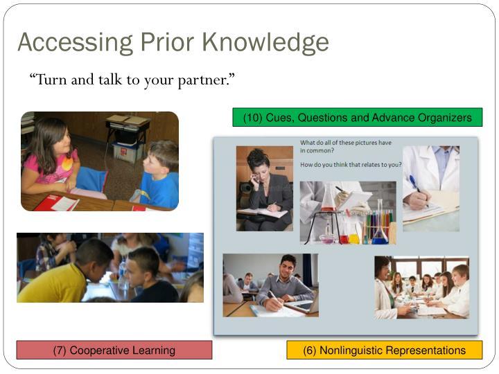 Accessing Prior Knowledge