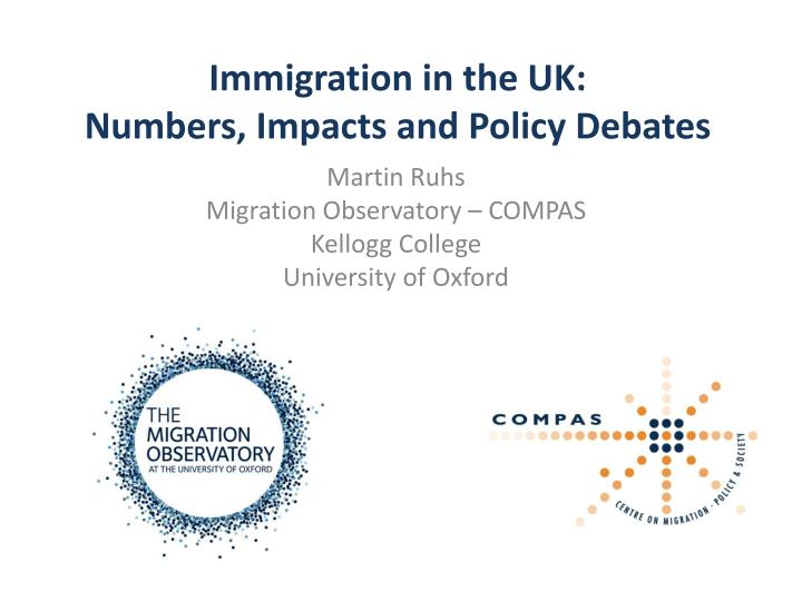 Immigration in the uk numbers impacts and policy debates