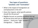 two types of questions positive and normative