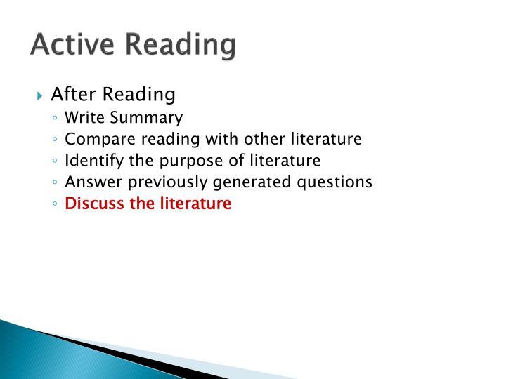 Active Reading
