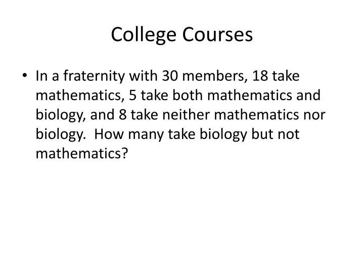 College Courses