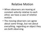 relative motion1