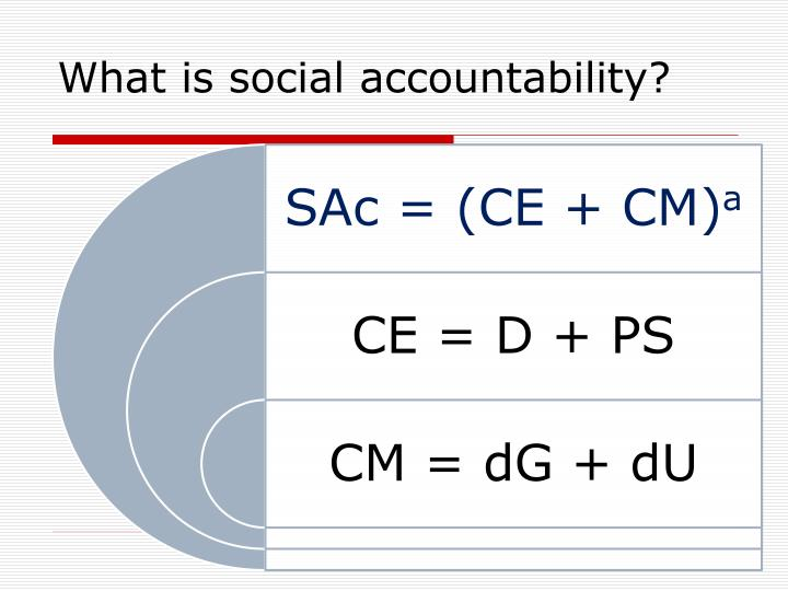 What is social accountability