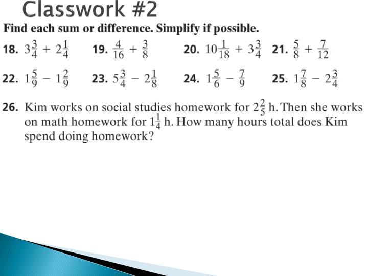 Classwork #2