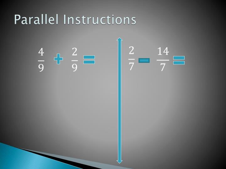 Parallel Instructions
