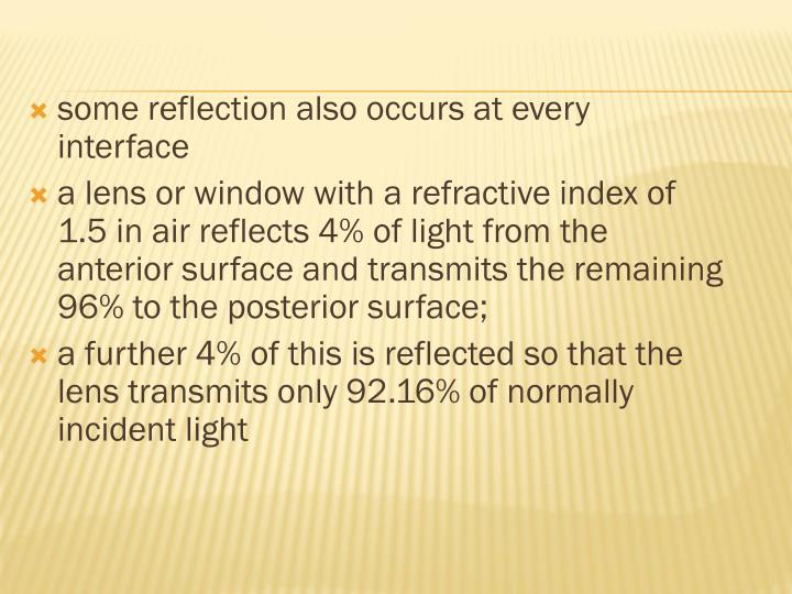 some reflection also occurs at every
