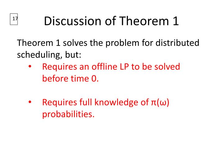 Discussion of Theorem 1