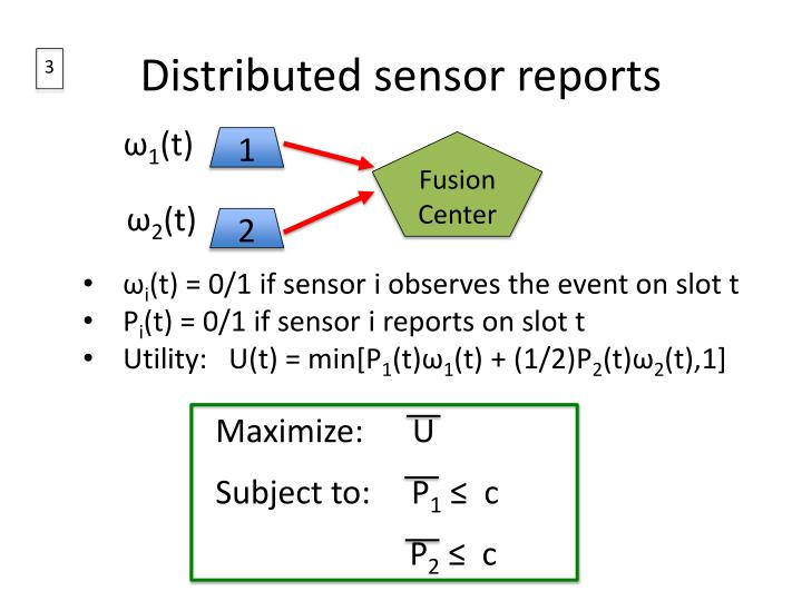 Distributed sensor reports