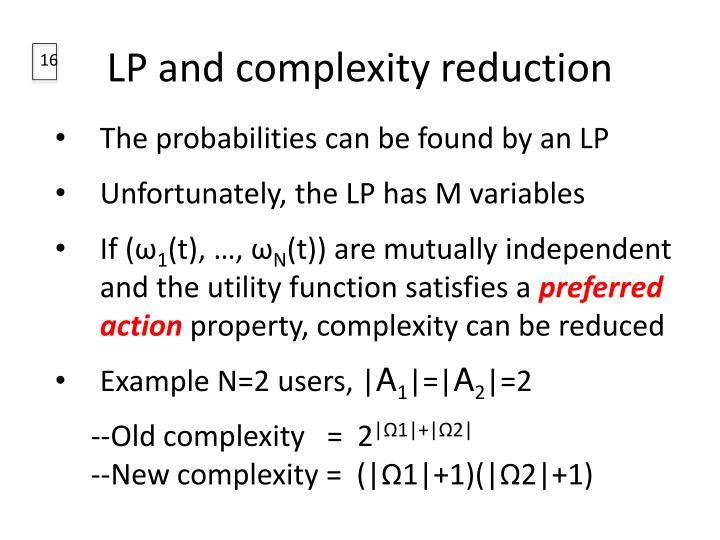 LP and complexity reduction