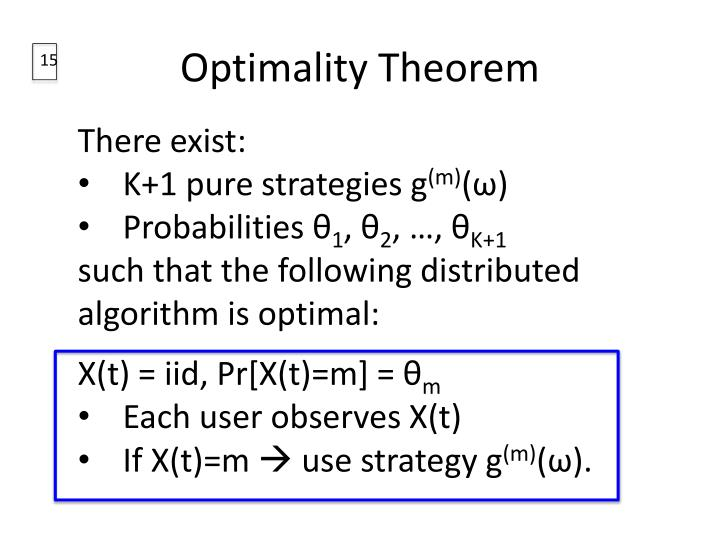 Optimality Theorem