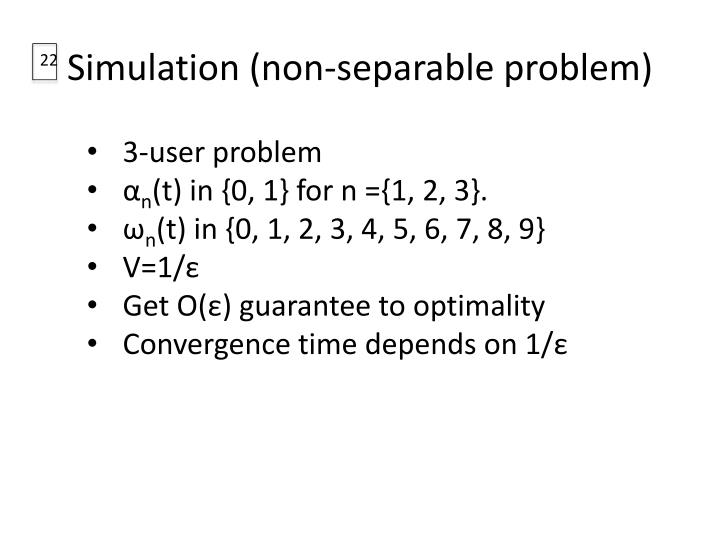 Simulation (non-separable problem)