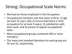strong occupational scale norms