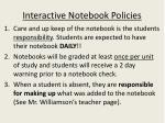 interactive notebook policies