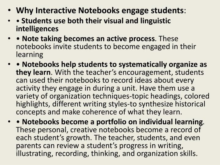 Why Interactive Notebooks engage students