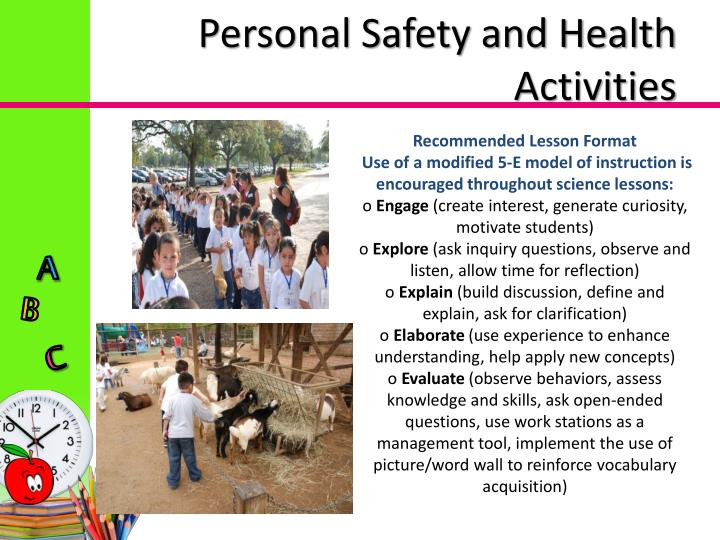 Personal Safety and Health Activities