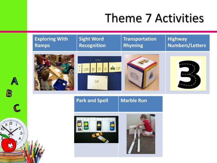 Theme 7 Activities