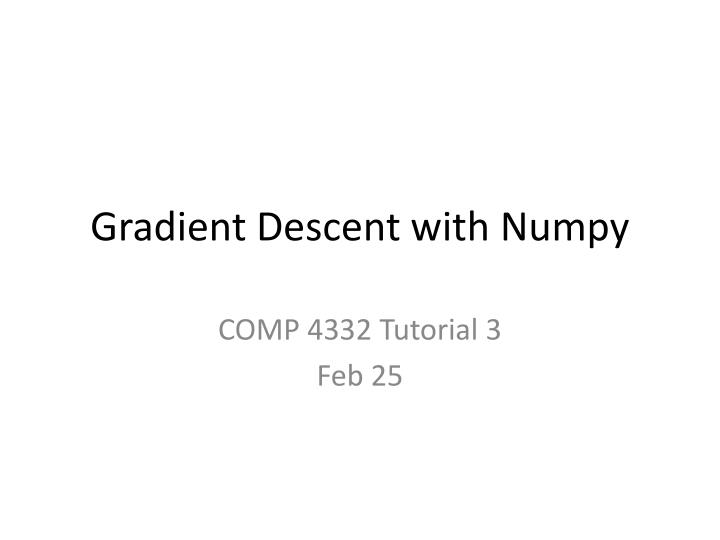 Gradient descent with numpy