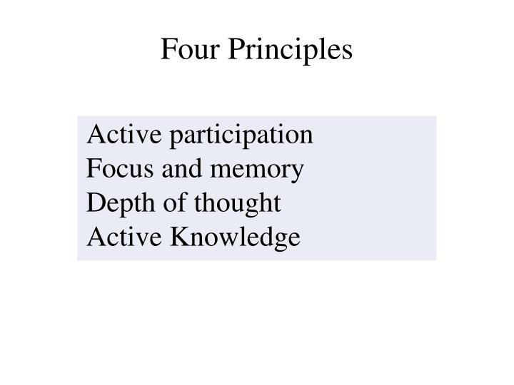 Four Principles