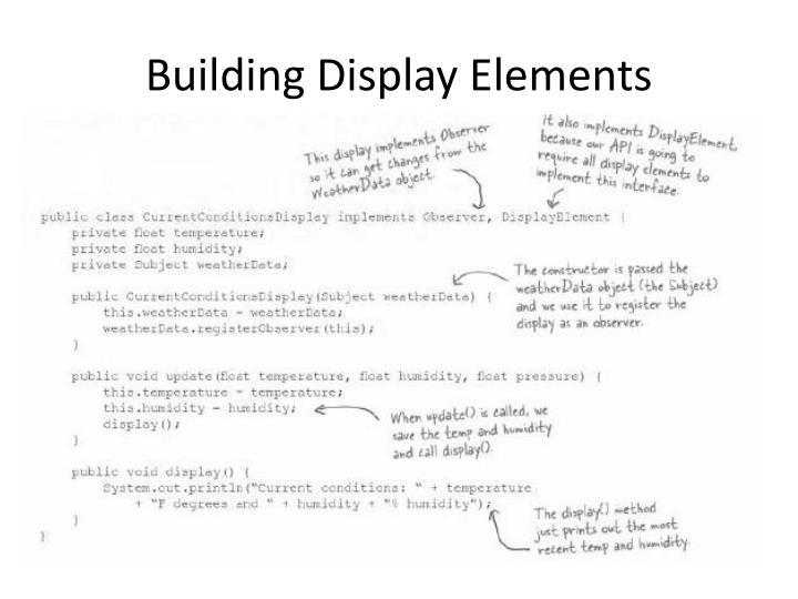 Building Display Elements