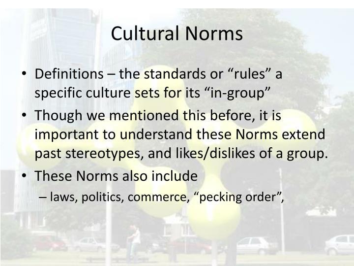 Cultural Norms