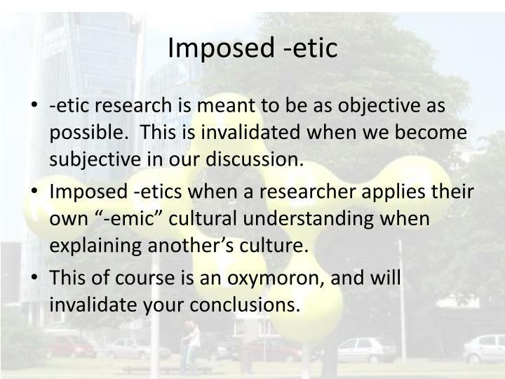 Imposed -