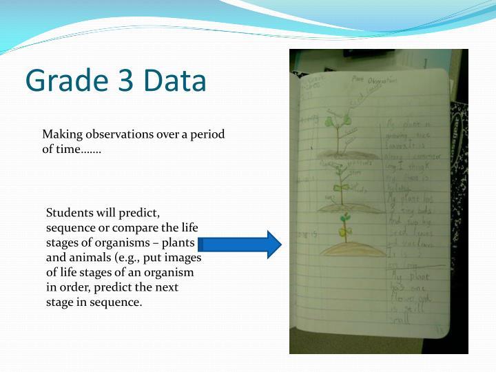 Grade 3 Data