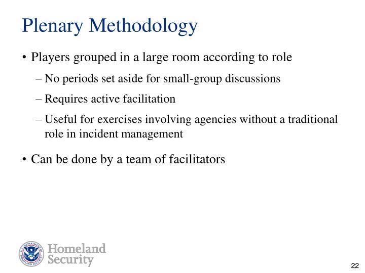 Plenary Methodology