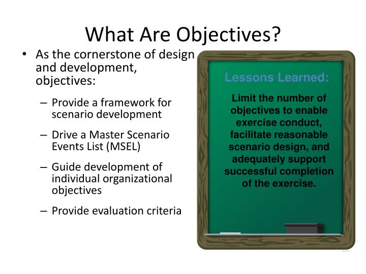 What Are Objectives?