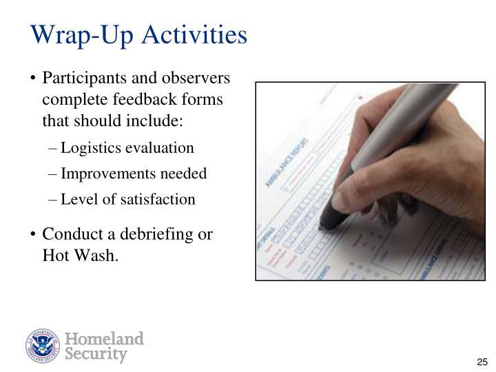 Wrap-Up Activities
