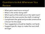 questions to ask whenever you review