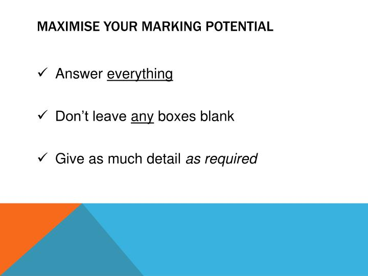 Maximise your marking potential