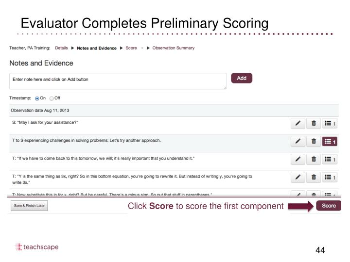 Evaluator Completes