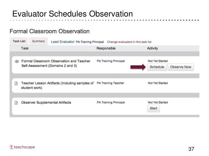 Evaluator Schedules